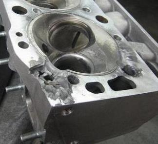 Cylinder head repair work